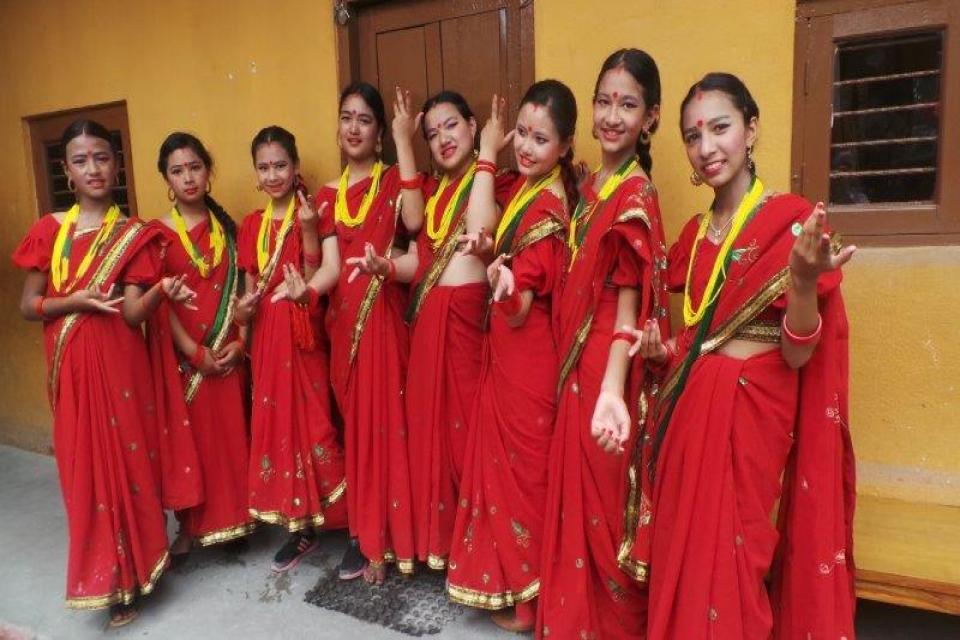 Students at Dance Competition-2075